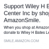 Support the Wiley H. Bates Legacy Center Through Amazon Shopping